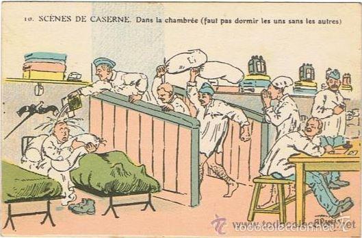 Militaria: I Guerra Mundial, Auténtico de época, Escenas militares, (en caricatura de chiste) Ver Fotos - Foto 3 - 27280003