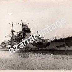 Militaria: WWII, ESPECTACULAR FOTOGRAFIA DEL CRUCERO JAPONES MYOKO,204X154MM. Lote 56260445