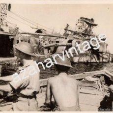 Militaria: WWII, CRUCERO ACORAZADO SAN GEORGIO, MARINA ITALIANA, PUERTO DE TOBRUK,200X152MM. Lote 56262182