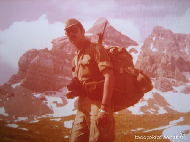 FOTOGRAFÍA SARGENTO DEL EJÉRCITO ESPAÑOL. ALTA MONTAÑA 1975 (Militar - Fotografía Militar - Otros)
