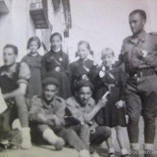 Militaria: FOTOGRAFÍA SOLDADOS DEL EJÉRCITO NACIONAL. SALDAÑA 1936. Lote 56390421