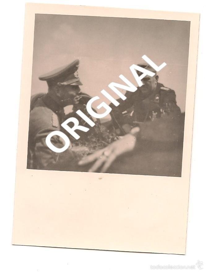 MARISCAL ERWIN ROMMEL EN CAMPAÑA - FOTOGRAFÍA ORIGINAL AGFA LUPEX (Militar - Fotografía Militar - II Guerra Mundial)