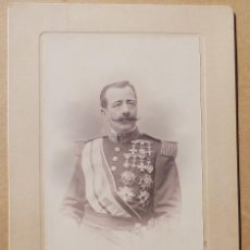 Militaria: FOTOGRAFÍA GENERAL RAFAEL VASSALLO, MALLORCA 1923, MEDALLAS GUERRA DE CUBA, MEDIDAS 28X18,5 CM. Lote 56516725