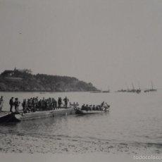 Militaria: SOLDADOS DE LA WEHRMACHT EN BARCAZAS.OPERACION LEON MARINO.FRANCIA .AÑOS 1939-45. Lote 56862767