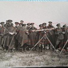 Militaria: POSTAL FOTOGRAFIA ESCUELAS MILITARES O MANIOBRAS EN PEÑA ULLOA 1932. Lote 56978228