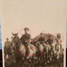 Militaria: POSTAL FOTOGRAFIA EXCUELAS MILITARES O MANIOBRAS EN PEÑA ULLOA 1932. Lote 56978271