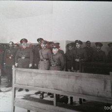 Militaria: POSTAL FOTOGRAFIA EXCUELAS MILITARES O MANIOBRAS EN PEÑA ULLOA 1932. Lote 56978300