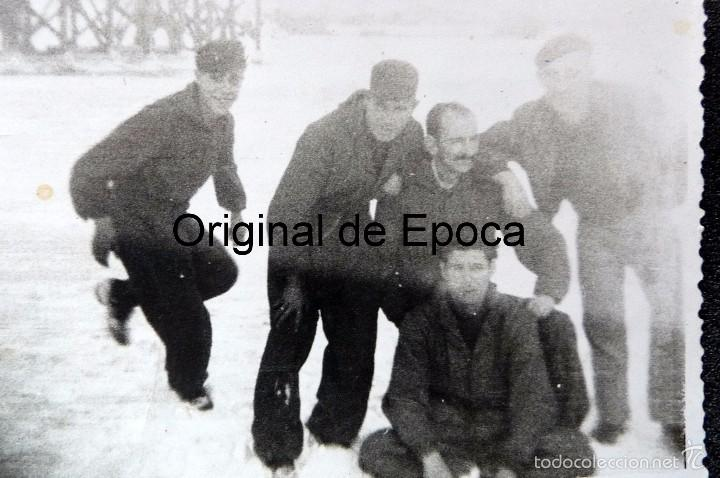 Militaria: (JX-1567) Conjunto de siete fotografías de un trabajador español en la Alemania Nazi,Segunda Guerra - Foto 2 - 57036192