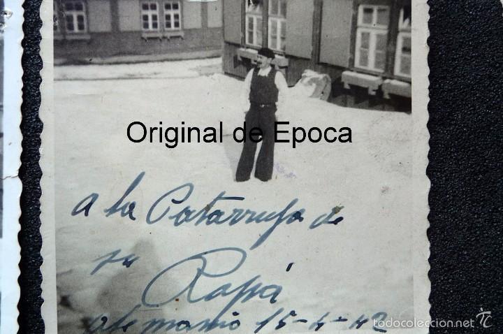 Militaria: (JX-1567) Conjunto de siete fotografías de un trabajador español en la Alemania Nazi,Segunda Guerra - Foto 3 - 57036192