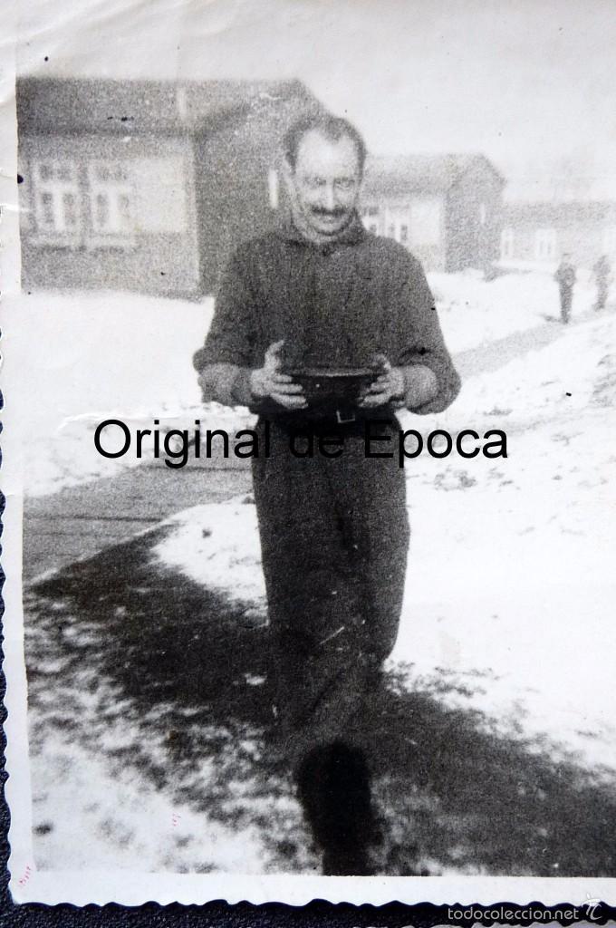 Militaria: (JX-1567) Conjunto de siete fotografías de un trabajador español en la Alemania Nazi,Segunda Guerra - Foto 6 - 57036192