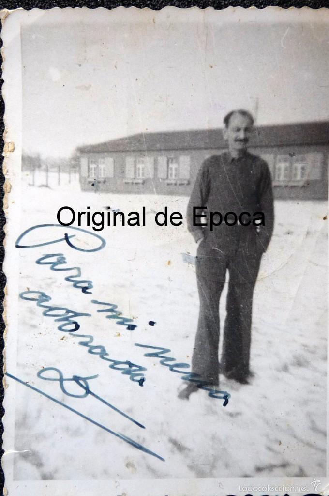 Militaria: (JX-1567) Conjunto de siete fotografías de un trabajador español en la Alemania Nazi,Segunda Guerra - Foto 7 - 57036192