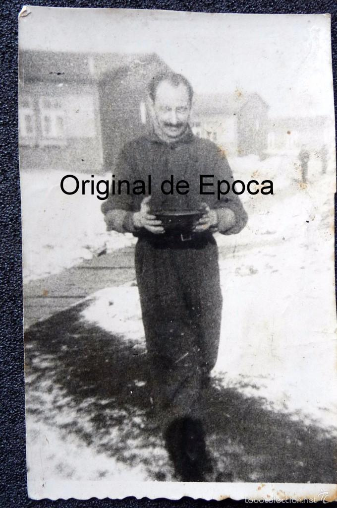 Militaria: (JX-1567) Conjunto de siete fotografías de un trabajador español en la Alemania Nazi,Segunda Guerra - Foto 8 - 57036192