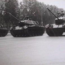 Militaria: FOTOGRAFÍA CARROS DE COMBATE M-24 DEL EJÉRCITO ESPAÑOL. 1970. Lote 57060235