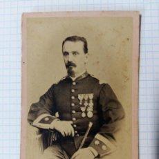 Militaria: FOTO MILITAR DE TENIENTE CORONEL, 1870, 5,5 X 10,5 APROX.. Lote 57073113
