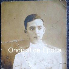 Militaria: (JX-1530) FOTOGRAFÍA DE OFICIAL DE LA MARINA MERCANTE , VAPORES CORREOS , REALIZADA EN NUEVA MANILA. Lote 57117124