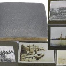 Militaria: ALBUM DE MAS DE 200 FOTOGRAFIAS DEL BARCO ACORAZADO ALFONSO XIII, EN SU VIAJE POR AMERICA, SUBMARINO. Lote 57189945