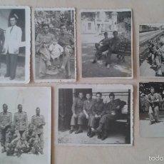 Militaria: LOTE 7 FOTOGRAFÍAS DE MILITARES ESPAÑOLES -- ESPAÑA, AÑOS 1944 Y 1950 --. Lote 57436163