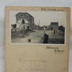 Militaria: FOTO DE STEENWERCK, MESSINES CLUB, 1921 CON FIRMA SUPERVIVIENTES Y MENU DE MAXIM. Lote 57565801