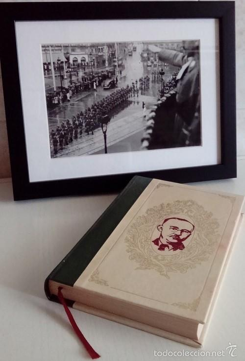 INTERESANTE LOTE DE FOTOGRAFIA ORIGINAL DE HIMMLER SALUDANDO TROPAS TIRADA LIMITADA Y SU LIBRO (Militar - Fotografía Militar - II Guerra Mundial)