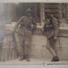 Militaria: 1ª GUERRA MUNDIAL : SOLDADOS FRANCESES, UNO CON CASCO ADRIAN. Lote 57694665