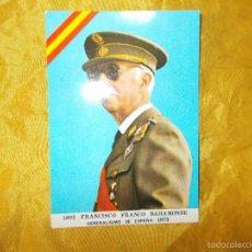Militaria: POSTAL FRANCISCO FRANCO BAHAMONDE. GENERALISIMO DE ESPAÑA 1975. EDICIONES LA CORONA. Lote 119620072