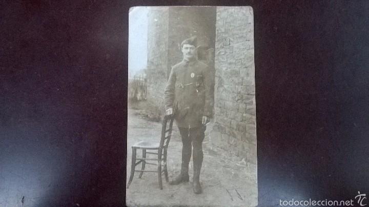 FOTO SOLDADO FRANCES 1918 (Militar - Fotografía Militar - I Guerra Mundial)