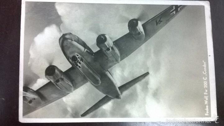 POSTAL AVION ALEMAN FOCKE-WULF FW 200C,CONDOR (Militar - Fotografía Militar - II Guerra Mundial)