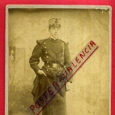 Militaria: FOTOGRAFIA MILITAR, ALBUMINA , FOTO J. DERREY VALENCIA , CARTON , ORIGINAL , AJ. Lote 58013138