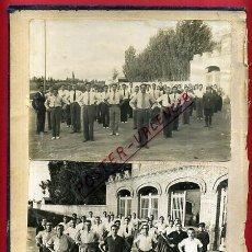 Militaria: FOTOS GUERRA CIVIL , CARCEL PRISION DE VALENCIA , PEGADAS A CARTON , ORIGINAL , AJ. Lote 58013212