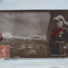 Militaria: ANTIGUA FOTO POSTAL ESCRITA POR CATALAN EN I GUERRA MUNDIAL, 1914, GENERAL JOFFRE.. Lote 58097513