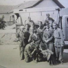 Militaria: FOTOGRAFÍA CONDUCTORES DEL EJÉRCITO ESPAÑOL. GUADARRAMA 1936. Lote 58100810