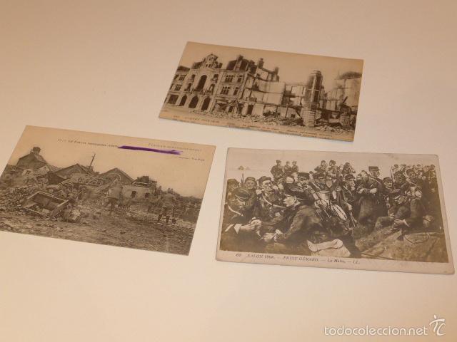 LOTE 3 FOTOGRAFIA O POSTAL DE I GUERRA MUNDIAL, FRANCESAS, FRANCIA (Militar - Fotografía Militar - I Guerra Mundial)