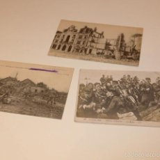 Militaria: LOTE 3 FOTOGRAFIA O POSTAL DE I GUERRA MUNDIAL, FRANCESAS, FRANCIA. Lote 58102869