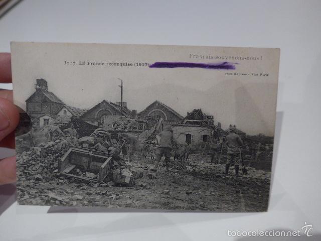 Militaria: Lote 3 fotografia o postal de I guerra mundial, francesas, Francia - Foto 2 - 58102869