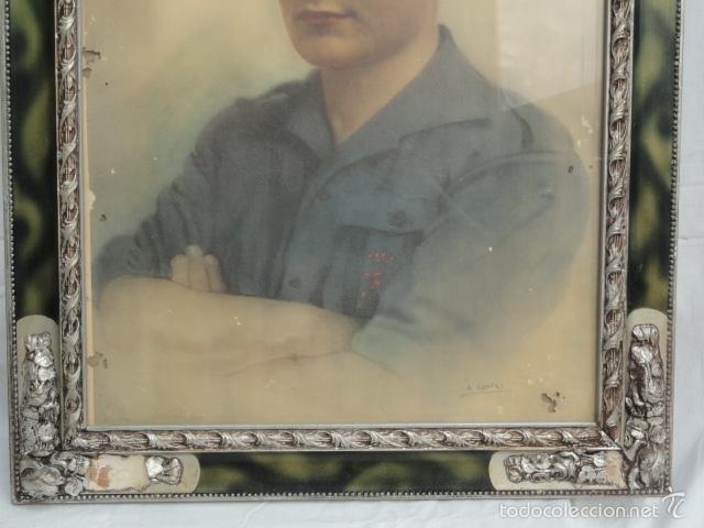 Militaria: LÁMINA FOTO ENMARCADA JOSÉ ANTONIO PRIMO DE RIVERA. - Foto 3 - 58114685