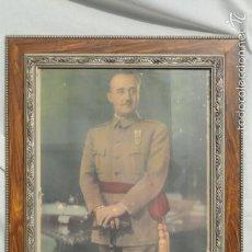 Militaria: LÁMINA FOTO ENMARCADA FRANCISCO FRANCO.. Lote 58114759