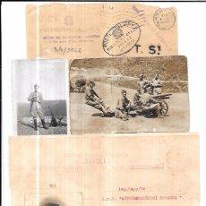 Militaria: GUERRA CIVIL,TROPAS ITALIANAS,FLECHAS NEGRAS,DOCUMENTO Y TRES FOTOS ORIGINALES,MÁLAGA,ÚNICO!!!!. Lote 58196439