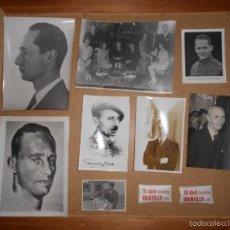 Militaria: LOTE FOTOS CARLISMO CARLISTA FRANCISCO I CARLOS HUGO DE ESTUDIO PARA DEDICATORIAS DE LA FAMILIA REAL. Lote 58220242