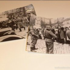 Militaria: LOTE 2 GIGANTES FOTOGRAFIA DE PRENSA DE II GUERRA MUNDIAL, DE ALEMANIA NAZI, ALEMANES. Lote 58271611