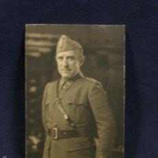 Militaria: POSTAL FOTOGRAFÍA RETRATO GENERAL DIVISIÓN FRANCISCO GÓMEZ JORDANA SOUZA RECORTADA ANGEL JALÓN. Lote 58325520