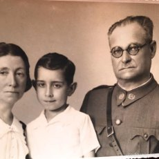 Militaria: MILITAR COMPOSITOR MARCHAS MILITARES ROMAN DE SAN JOSE MUJER HIJO 1930 FOTOGRAFO LUIS SAUS. Lote 58327763