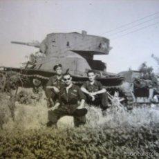 Militaria: FOTOGRAFÍA CARRISTAS DEL EJÉRCITO ESPAÑOL. T-26 1948. Lote 58532336