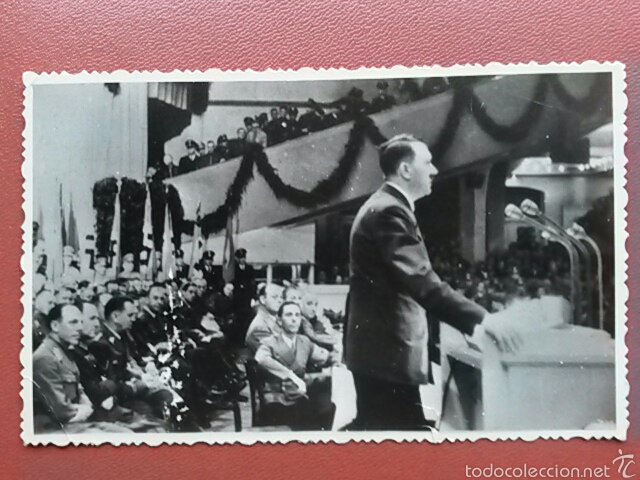 FOTOGRAFIA ORIGINAL ADOLF HITLER Y JOSEPH GOEBBELS (Militar - Fotografía Militar - II Guerra Mundial)