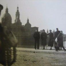 Militaria: FOTOGRAFÍA FALANGISTAS. GUERRA CIVIL ZARAGOZA EL PILAR. Lote 58651094
