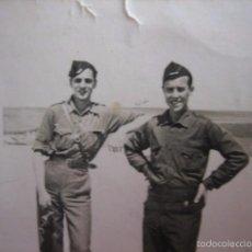 Militaria: FOTOGRAFÍA JEFES DE ESCUADRA FALANGISTAS. VALVERDE 1937. Lote 58667493