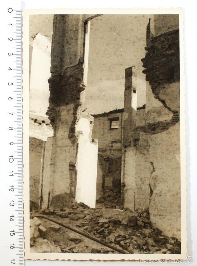 FOTO GUERRA CIVIL, POBLACION DESTRUIDA (Militar - Fotografía Militar - Guerra Civil Española)