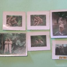 Militaria: LOTE 6 FOTOS INEDITAS DE LA GUERRA DE INDOCHINA 1949 MILITARES ESPAÑOLES . Lote 58687166
