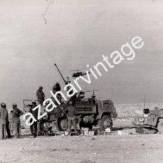 Militaria: EL AAIUN,1975, TROPAS ESPAÑOLAS CONTROLANDO EL REPLIEGE DE LA MARCHA VERDE,178X128MM. Lote 58702589