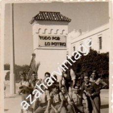 Militaria: SEVILLA, AVIACION, BASE DE TABLADA, ANTIGUA FOTOGRAFIA,80X60MM. Lote 58750993