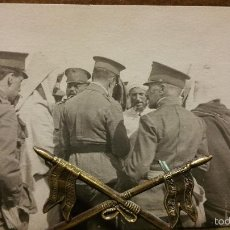 Militaria: POSTAL FOTOGRAFIA VIAJE DE CEUTA REY ALFONSO XIII -INFANTES,1915. Lote 58784596